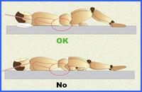 higiene postural al estar acostado