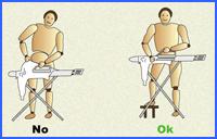 higiene postural al planchar