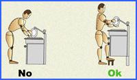 higiene postural al lavar platos